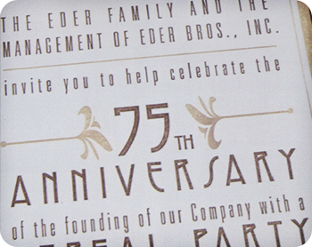 75th Anniversary Party Invite